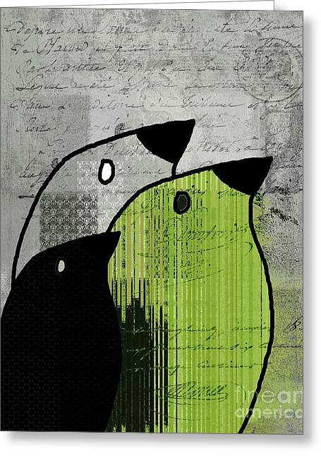 Birdies - J693b4 Greeting Card by Variance Collections