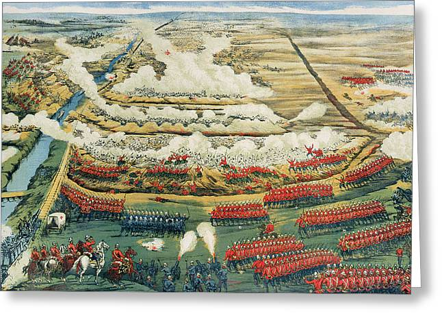 Bird's-eye View Of The Battle Of Tel El-kebir Greeting Card by English School