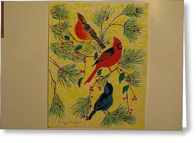 Birds Jewelry Greeting Cards - Birds In the Trees Greeting Card by Dennis Buchy