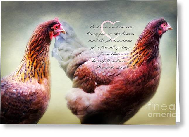 Birds Of A Feather - Verse Greeting Card by Anita Faye