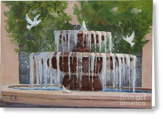 Tracy Hall Greeting Cards - Birds of Play Greeting Card by Cheryl Bloomfield