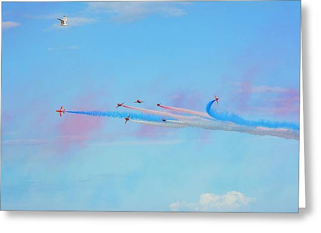 Global Hawk Greeting Cards - Birds View  Greeting Card by Mark Hinds