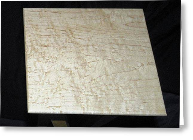 Birdseye Maple Table Top Greeting Card by William Lowrey
