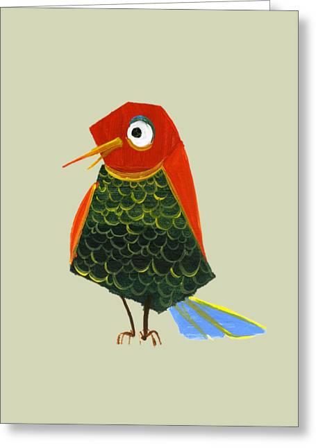Birdy Greeting Card by Kristina Vardazaryan