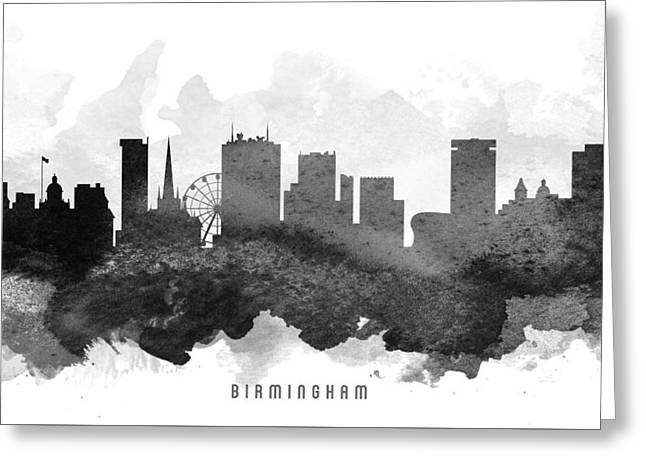 Birmingham Greeting Cards - Birmingham Cityscape 11 Greeting Card by Aged Pixel