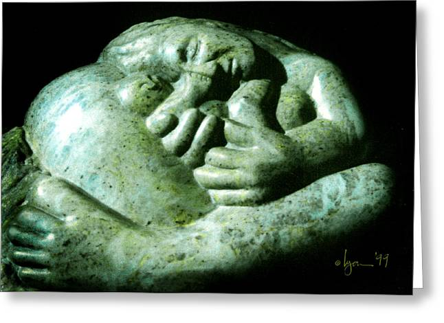 Child Sculptures Greeting Cards - Birth Bliss Greeting Card by Angela Treat Lyon