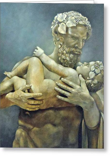Greek Sculpture Paintings Greeting Cards - Birth of Bacchus Greeting Card by Geraldine Arata