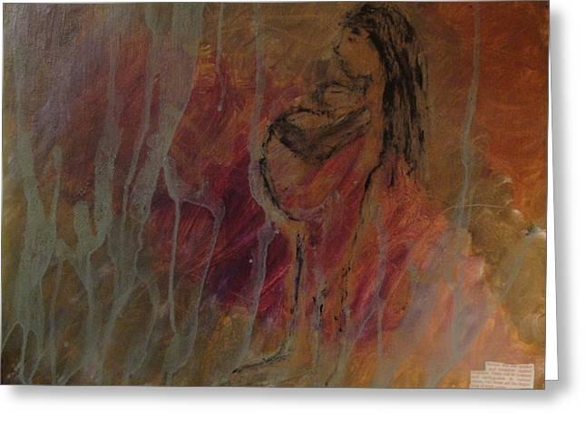 Birth Pains Greeting Card by Lisa  Graham