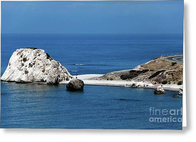 Recently Sold -  - Greek School Of Art Greeting Cards - Birth place of Aphrodite Greeting Card by John Rizzuto
