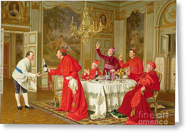 Table-cloth Greeting Cards - Birthday Greeting Card by Andrea Landini