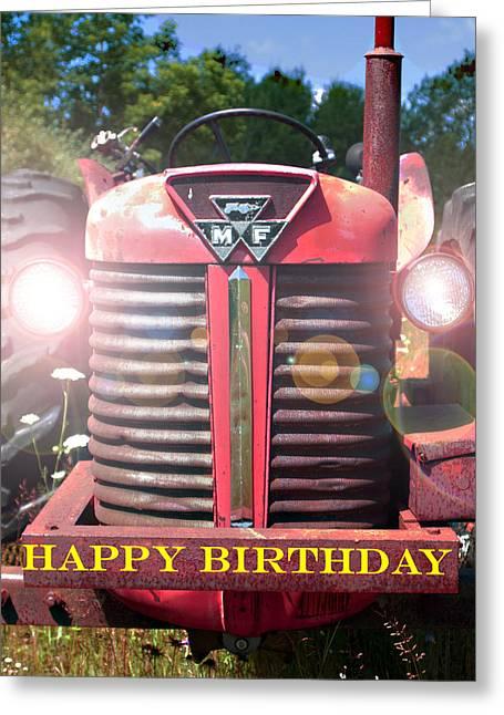 Birthday Card -- Big M-f Greeting Card by Bob Johnson