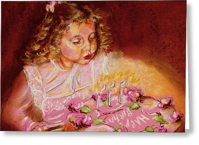 Wishes Pastels Greeting Cards - Birthday Wish Greeting Card by Yvonne Ayoub
