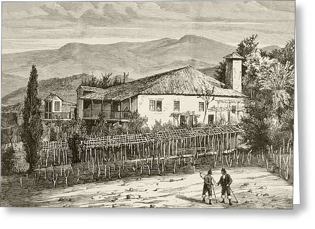 Jer Greeting Cards - Birthplace In Casdemiro, Galicia, Spain Greeting Card by Vintage Design Pics