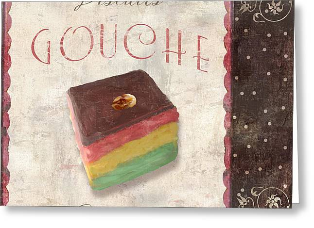Chocolate Cake Greeting Cards - Biscuits Gouche Patisserie Greeting Card by Mindy Sommers