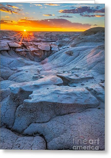 Na Greeting Cards - Bisti Last Light Greeting Card by Inge Johnsson