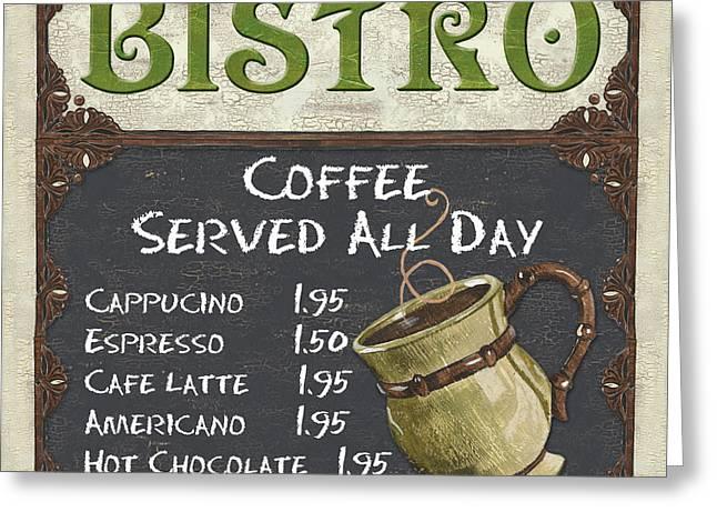 Bistro Chalkboard  Greeting Card by Debbie DeWitt