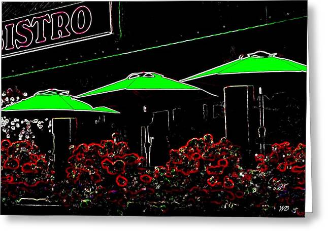 Bistro Greeting Card by Will Borden