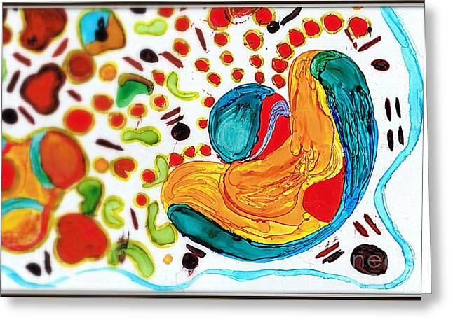 Geometric Art Greeting Cards - Bits and Pieces.. Greeting Card by Jolanta Anna Karolska
