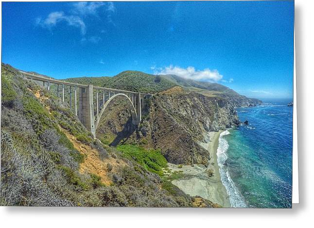 Bixby Bridge Greeting Cards - Bixby Bridge Greeting Card by Alpha Wanderlust