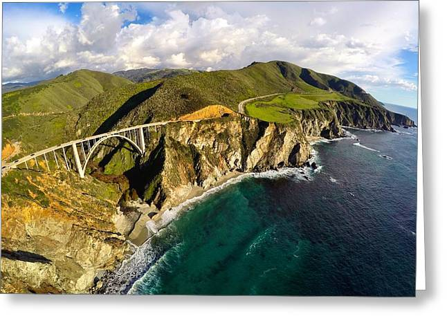 Bixby Bridge Greeting Cards - Bixby Bridge at Big Sur Greeting Card by Garrett Manning