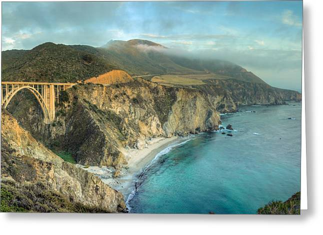 Bixby Bridge At Big Sur Greeting Card by James Udall