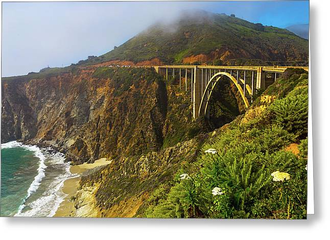 Bixby Bridge Big Sur Greeting Card by Garry Gay