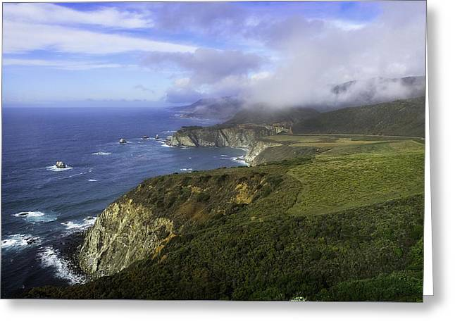 Bixby Bridge Greeting Cards - Bixby Bridge Big Sur Greeting Card by L Gilbert