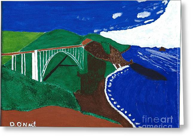 Bixby Bridge Greeting Cards - Bixby Bridge Blues Greeting Card by Dennis ONeil