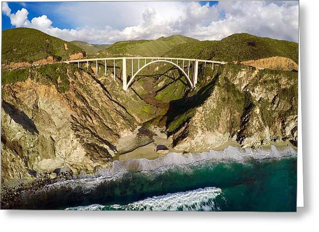 Bixby Bridge Greeting Cards - Bixby Bridge Greeting Card by Garrett Manning