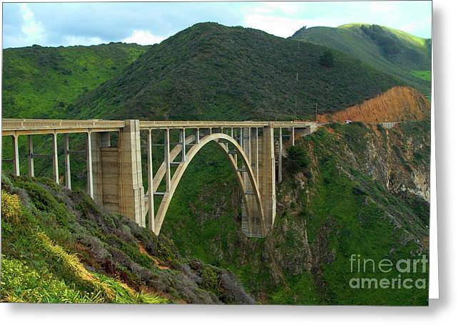 Bixby Bridge Greeting Cards - Bixby Bridge in Big Sur Greeting Card by Charlene Mitchell