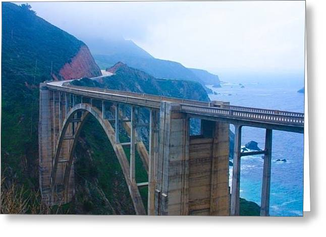 Bixby Bridge Greeting Cards - Bixby Bridge Greeting Card by Patricia  Wensel
