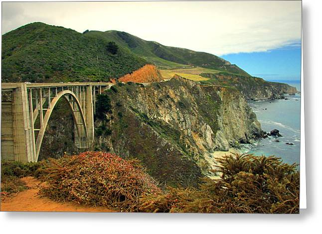 Bixby Bridge Greeting Cards - Bixby Creek Bridge Big Sur CA II Greeting Card by Joyce Dickens