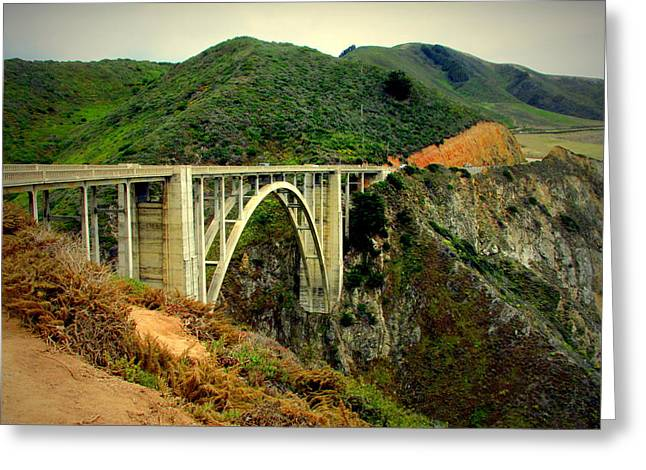 Bixby Bridge Greeting Cards - Bixby Creek Bridge Big Sur CA Greeting Card by Joyce Dickens