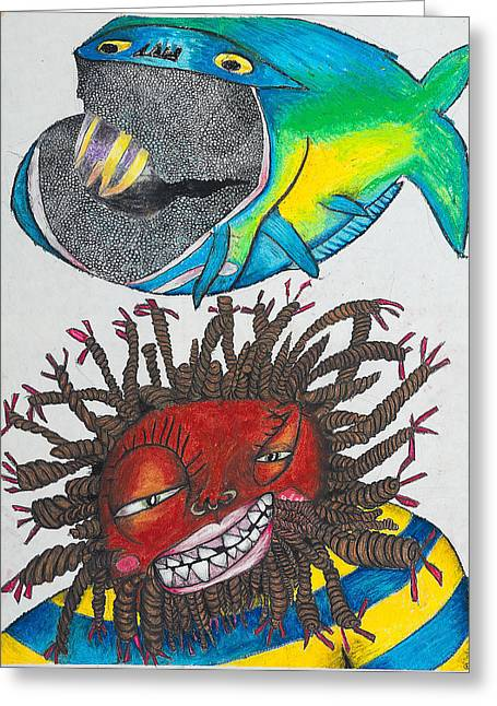 Billy Knows Greeting Cards - BK-Fish  Greeting Card by Billy Knows