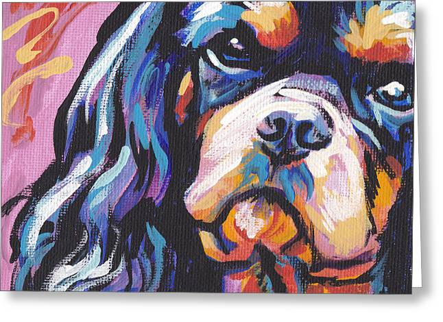 Black And Tan Cav Greeting Card by Lea S