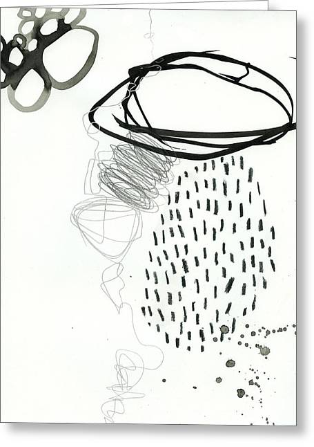Drawing Greeting Cards - Black and White # 11 Greeting Card by Jane Davies