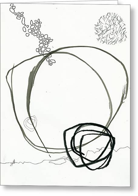 Drawing Greeting Cards - Black and White # 13 Greeting Card by Jane Davies
