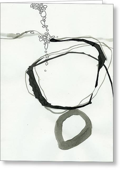 Drawing Greeting Cards - Black and White # 22 Greeting Card by Jane Davies