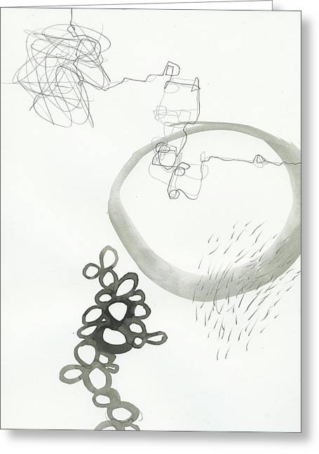 Drawing Greeting Cards - Black and White # 23 Greeting Card by Jane Davies