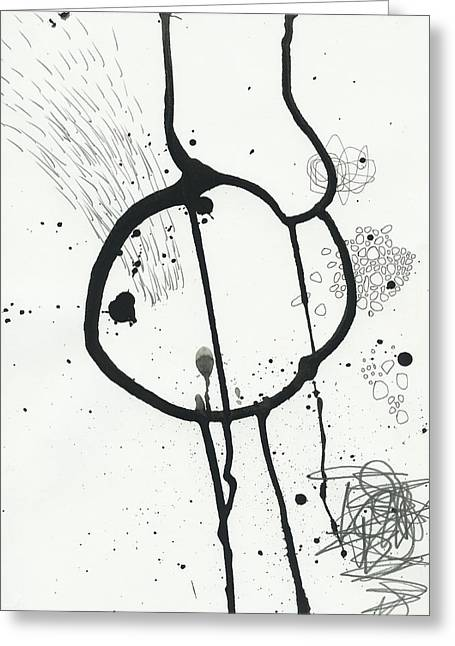 Drawing Greeting Cards - Black and White # 24 Greeting Card by Jane Davies