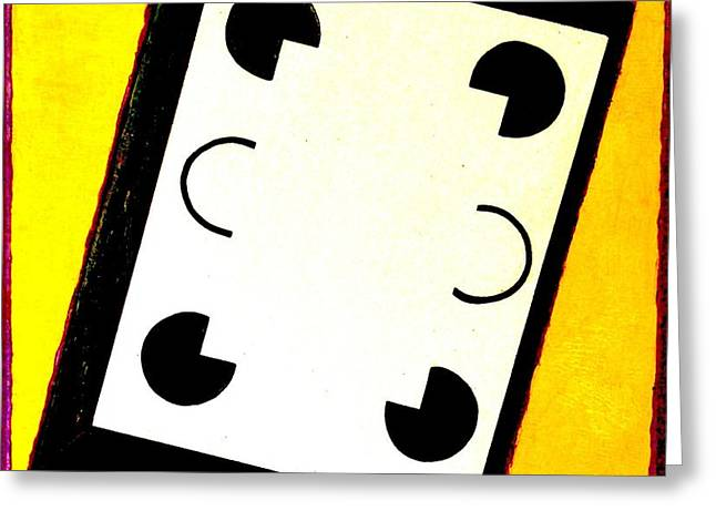 Black And White And White Greeting Card by Al Goldfarb