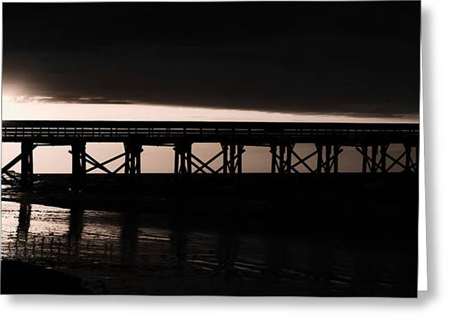 Artistic Photography Greeting Cards - Black and White Classic Sunrise Greeting Card by Ryan Welborn