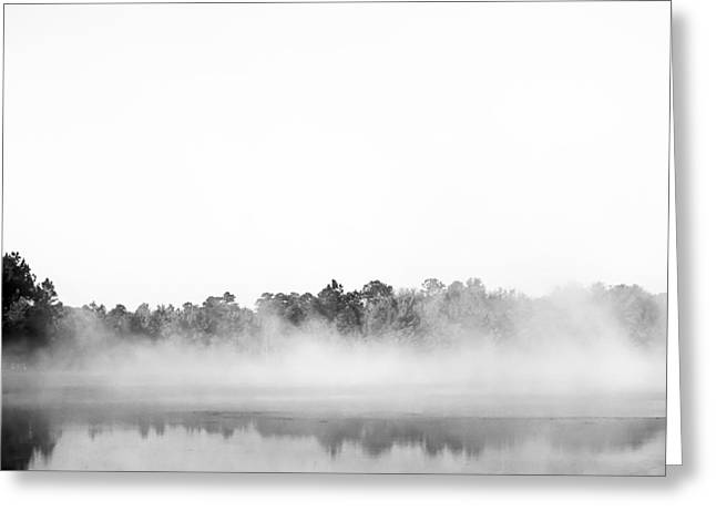 Mog Greeting Cards - Black and White Fog Greeting Card by Shelby  Young