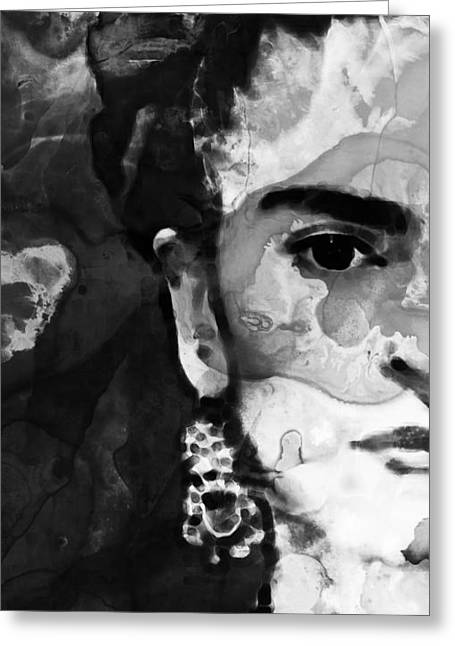 Recently Sold -  - Ultra Modern Greeting Cards - Black And White Frida Kahlo by Sharon Cummings Greeting Card by Sharon Cummings