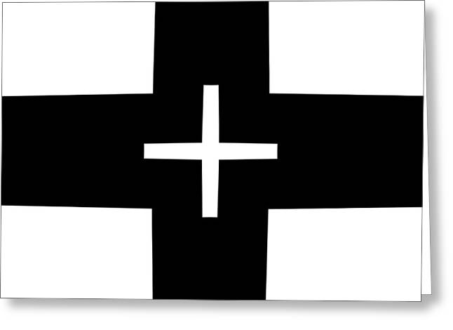 Geometrical Art Greeting Cards - Black and White Geometric 9 Greeting Card by David G Paul