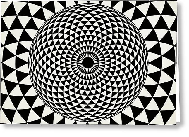 Black And White  Mandala Art Greeting Card by Wall Art Prints