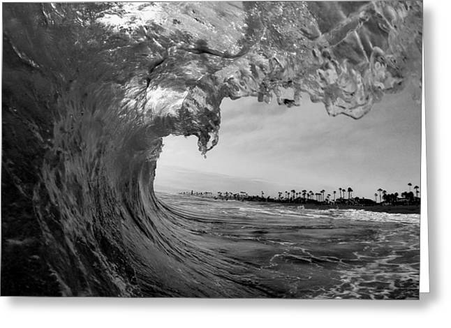 Surf City Greeting Cards - Black and white room Greeting Card by Alex Nicolson