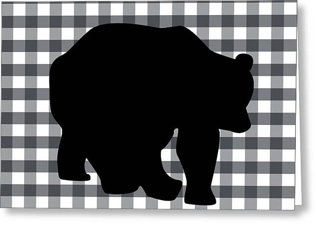 Black Bear Greeting Card by Linda Woods