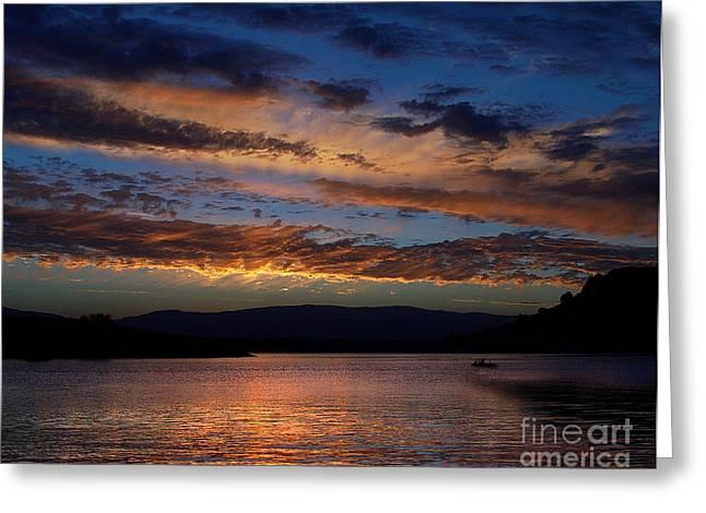 Black Butte Sunset Greeting Card by Peter Piatt