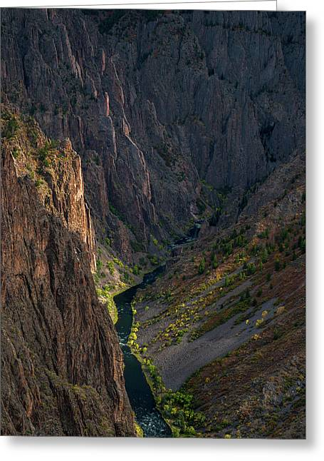 Black Canyon Greeting Card by Joseph Smith